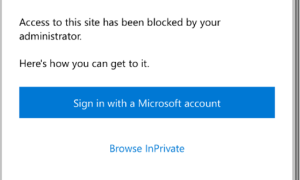 Microsoft Edge soft transition to private mode for blocked websites–Open in private if blocked