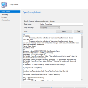 How to collect Teams client logs for troubleshooting using Configuration Manager–Scripts