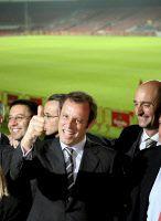 Sandro Rosell celebra la victòria electoral