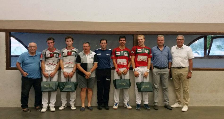 Tournoi Soporro d'Espelette : Barreneche-Dufau dominateurs