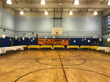 The gym was transformed into a massive career fair.