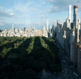 The view from the Mandarin Oriental, where the gala was held.