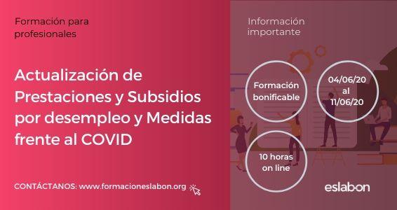 Actualización de prestacione y subsidios por desempleo y COVID