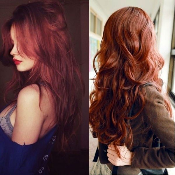 Red Hair Ombre Dyed Hair