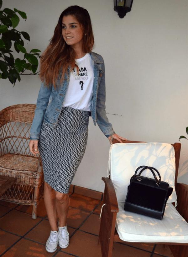 Falda Zapatos Mostaza Y Combinar Con Que Una