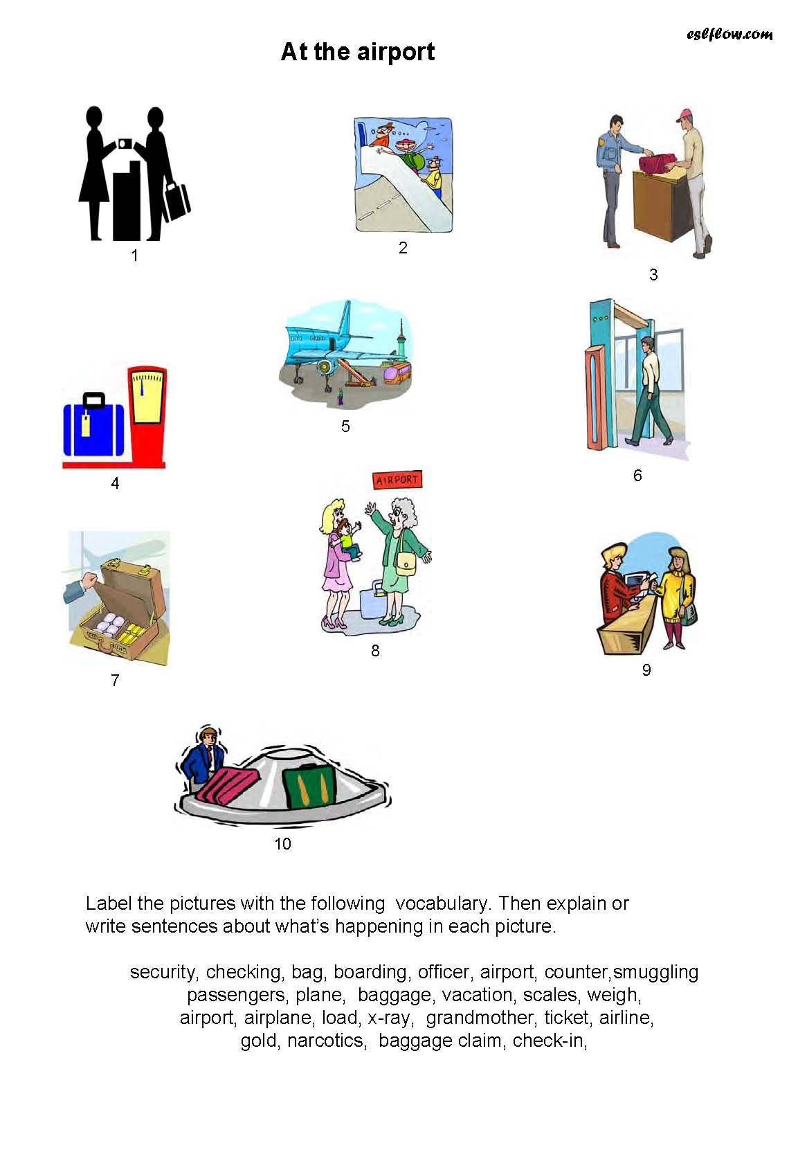 Airport Vocabulary Speaking Activity