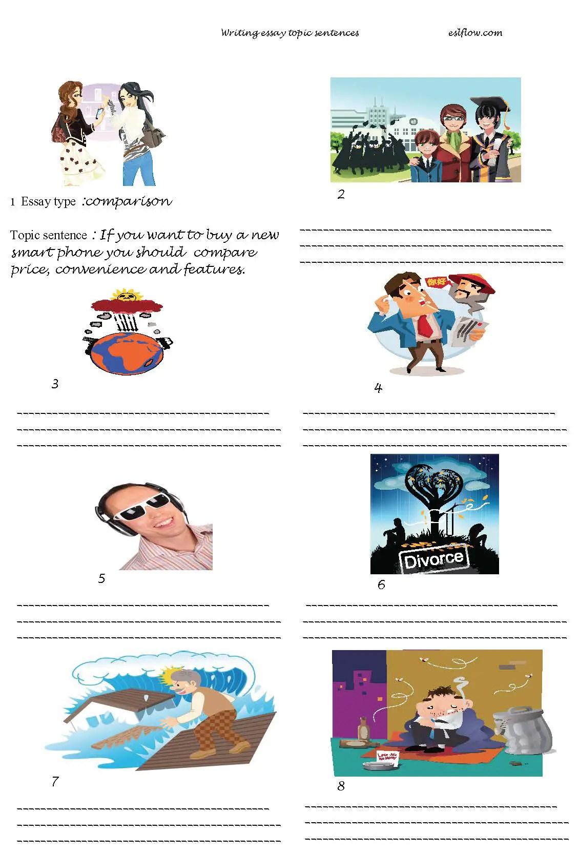 Writing Sentences Worksheets Esl
