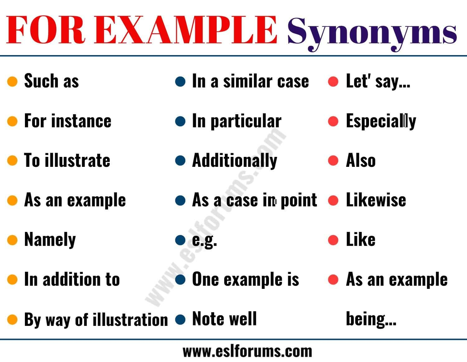 For Example Synonym 20 Useful Synonyms For For Example