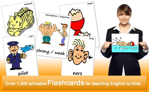 Flashcards For Teaching ESL Kids