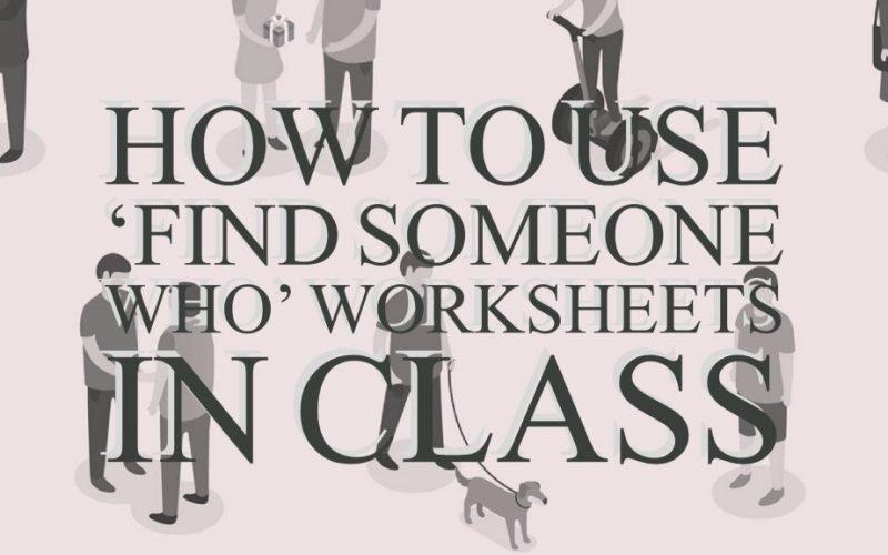 Find someone who ESL ESOL TEFL worksheets
