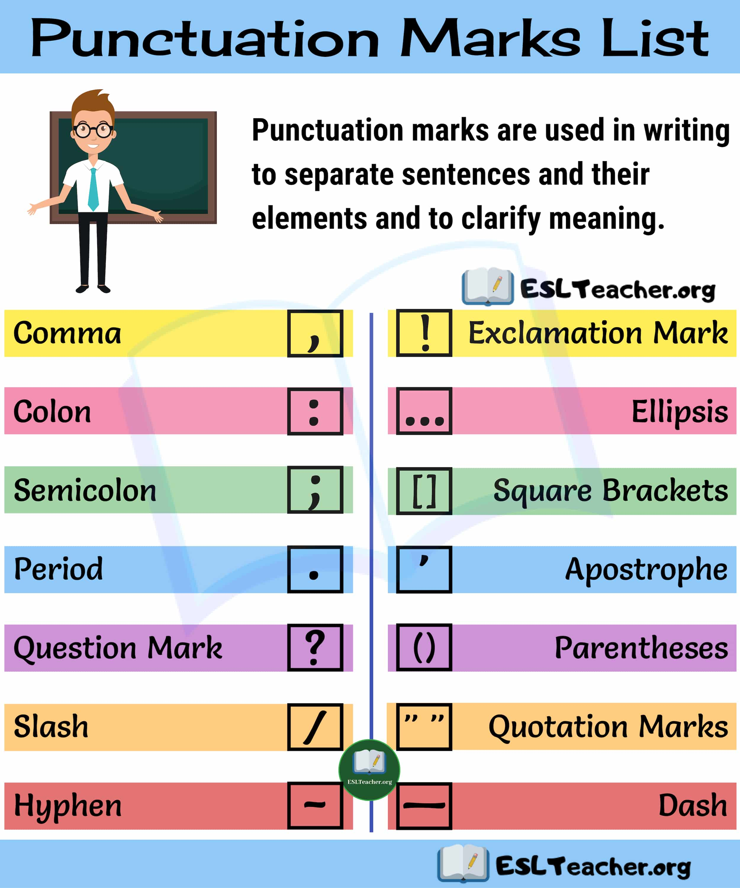 Punctuation Marks 14 Punctuation Marks You Need To Master