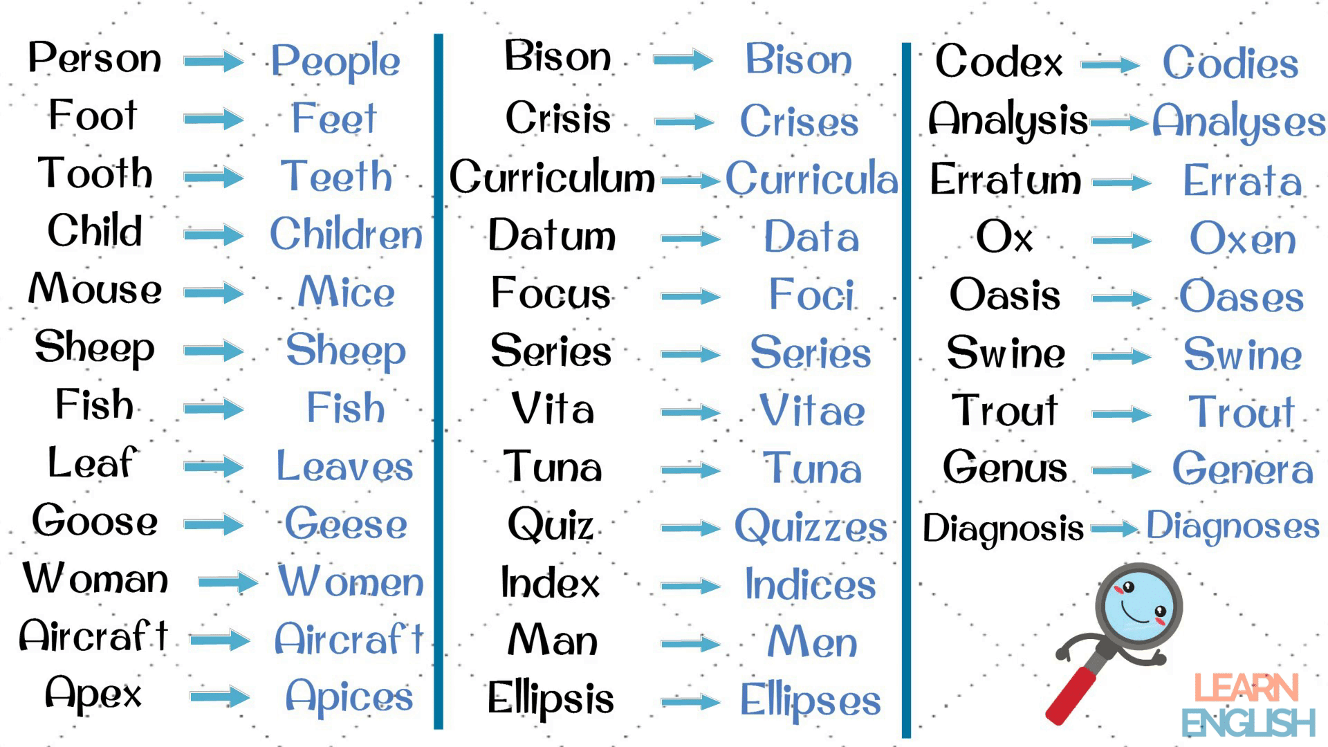 The Helpful List Of 35 Irregular Plural Nouns In English
