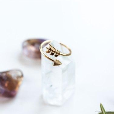 Anillo plata chapada en oro anillo flecha comprar anillo esmagic online