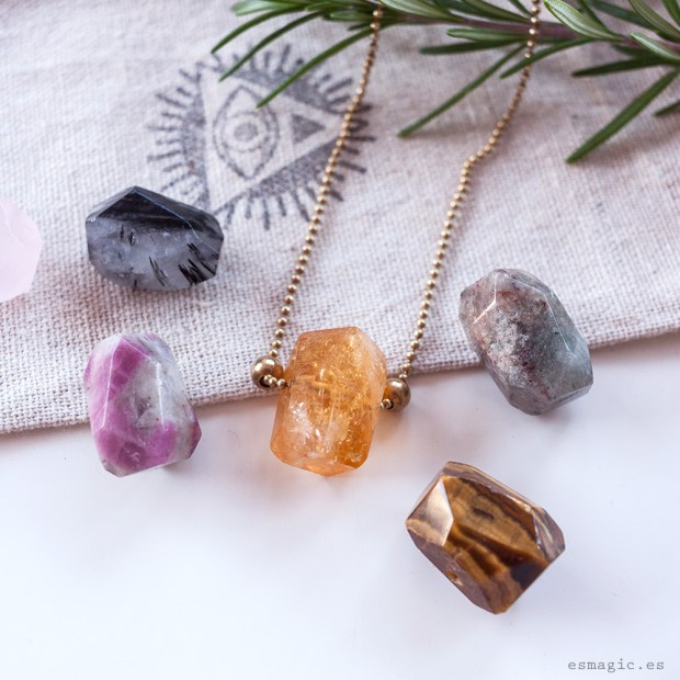 Colgante Piedras Naturales Crystal Vibes Esmagic Crystal Shop Tienda