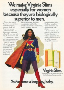 Un anuncio de Virginia Slims
