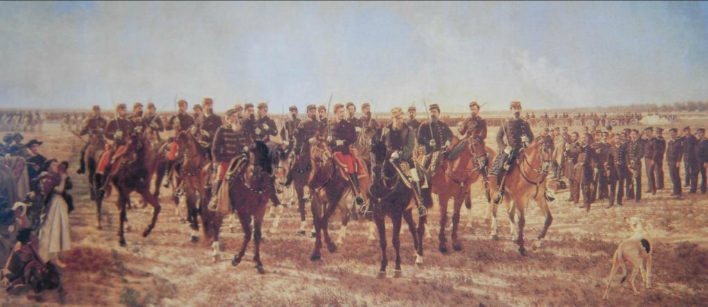 """""""Ocupación militar del Río Negro en la expedición al mando de Julio Argentino Roca"""" Juan Manuel Blanes (1889)"""
