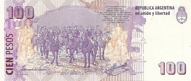 Billete de 100 pesos, sin los científicos.