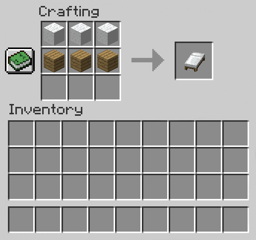 How to make a Bed in Minecraft (Image)