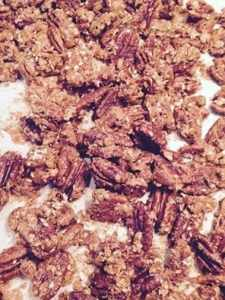 Sesame Rosemary Candied Pecans