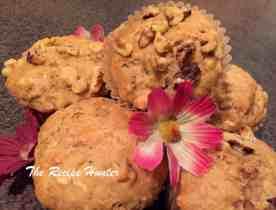 Caramel banana muffins gaar