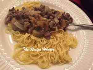 Angelhair pasta and mince1