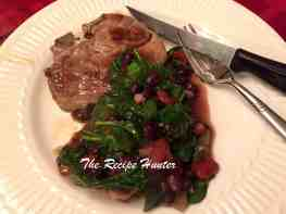 tomato and bean sauce with lamb shoulder chop