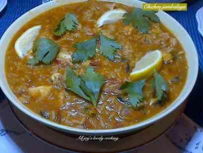 Chorizo and chicken jambalaya
