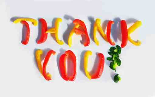 thank you food pic