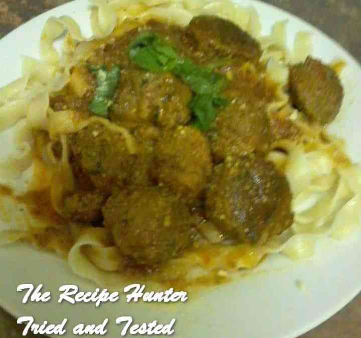Melanie's Fettuccine and Meatballs