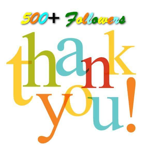 Thank you to our 500+ Followers