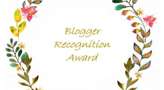 Blogger Recognition Award 3