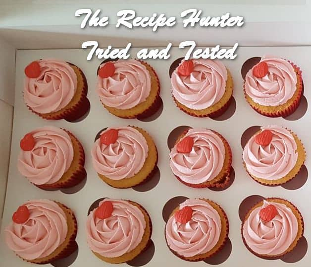 Vashnee's Vanilla Cupcakes with Strawberry icing