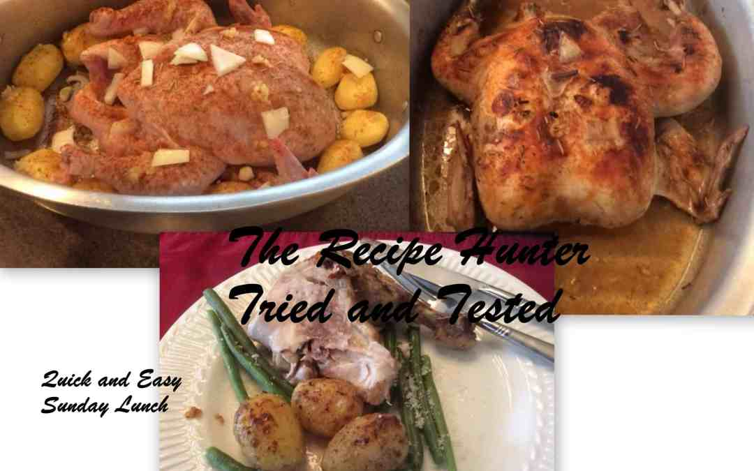 Es's Roasted Chicken, Roasted Potatoes and Steamed Green Breans
