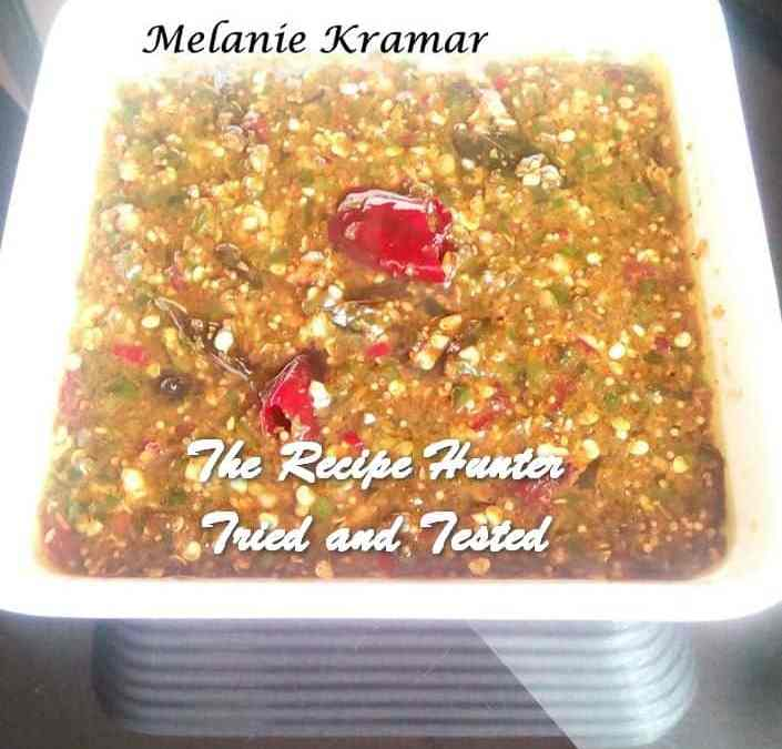 Melanie's Sweet and Sour Ground Aamli Chilli Pickle (Tamarind)