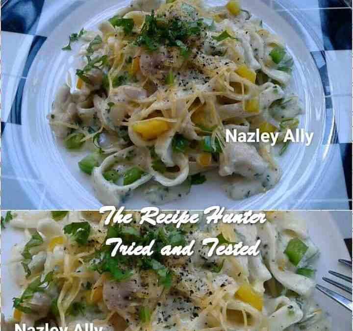 Nazley's Creamy Coconut & Coriander Tagliatelle Pasta with Chicken