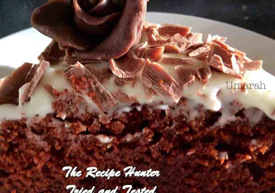 Preshana's Orange Chocolate Velvet Cake with Cream Cheese Frosting