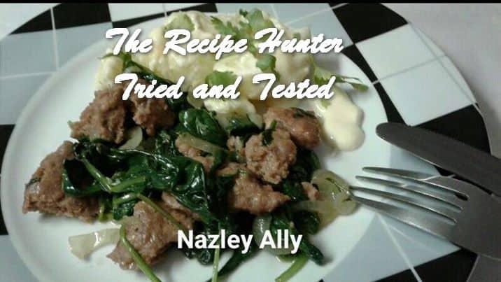 Nazley's Saute Burger Patties and Warm Potato Salad