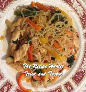 TRH Valerie's Honey Garlic Chicken and Shirataki Noodle Stir Fry