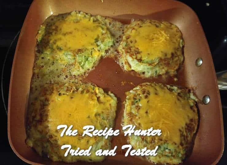 TRH Wally's Zucchini Grilled Cheese Patties