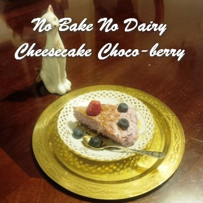 TRH No Bake No Dairy Cheesecake Choco-berry