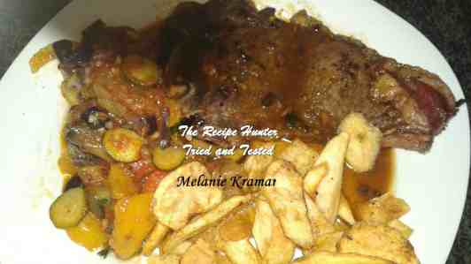 TRH Melanie's T-Bone Steak, Chips and Ratatouille