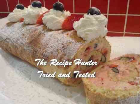 Gail's Berry Cream Cheese Swiss Roll