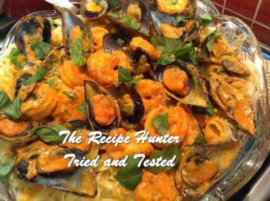 Gail's Prawn, Mussel Chilli Pasta