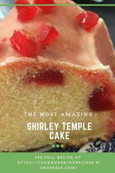 Bobby's Shirley Temple cake