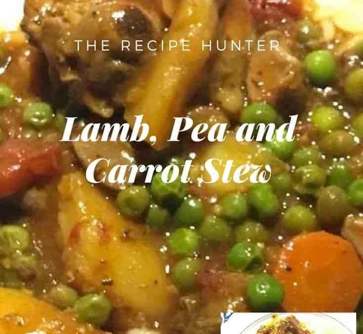 Melanie's Lamb, Pea and Carrot Stew