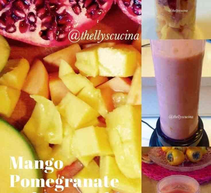 Thelma's Mango Pomegranate Kaki Smoothie