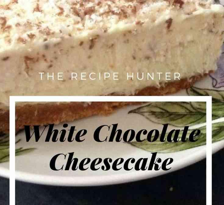 Bobby's Nigella's White Chocolate Cheesecake