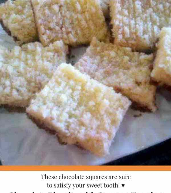 Feriel's Chocolate Square Biscuit with Coconut Topping