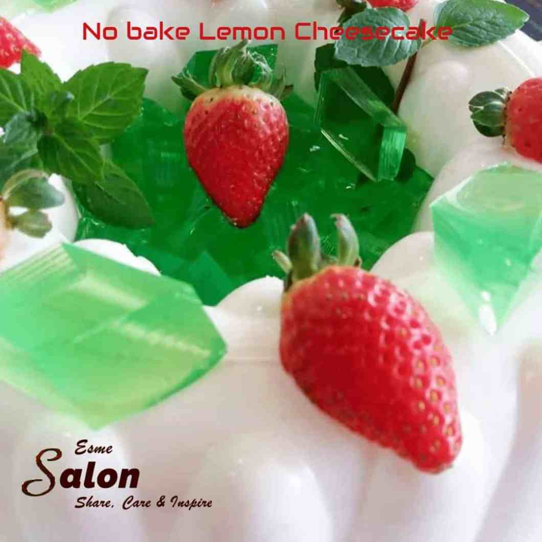 'Delicious, Quick and Easy Home-made Tried Tested No-bake Lemon Cheesecake