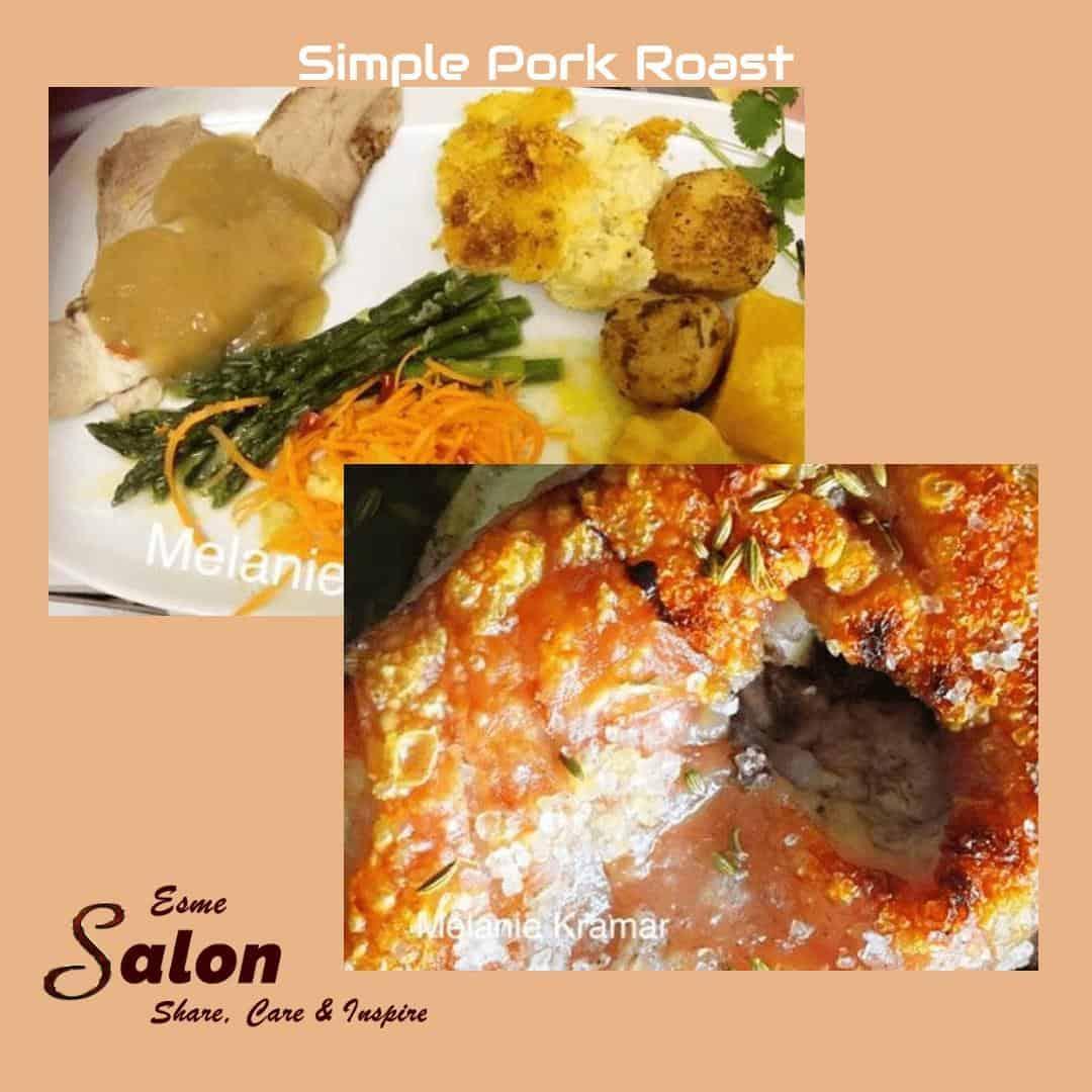 Simple Pork Roast #pork #vegetables #crackling
